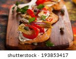 artichoke toasts with grilled... | Shutterstock . vector #193853417