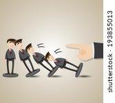 illustration of cartoon domino... | Shutterstock .eps vector #193855013