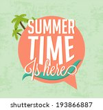 summer time is here... | Shutterstock .eps vector #193866887