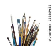paints and brushes | Shutterstock . vector #193869653