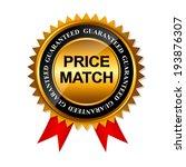 price match guarantee gold... | Shutterstock .eps vector #193876307