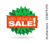 mid season sale typographic... | Shutterstock .eps vector #193879193