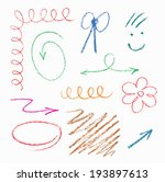 set of hand drawn elements ... | Shutterstock .eps vector #193897613