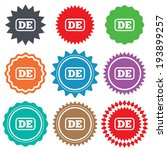german language sign icon. de... | Shutterstock .eps vector #193899257