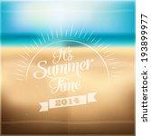 it's summer time | Shutterstock .eps vector #193899977