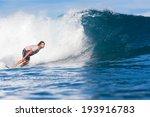 surfing a wave. indian ocean. | Shutterstock . vector #193916783
