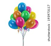 merry festive colored balloons... | Shutterstock .eps vector #193973117