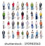 multi ethnic group of poeple in ... | Shutterstock . vector #193983563