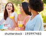 three female friends enjoying... | Shutterstock . vector #193997483