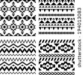 set of seamless geometric aztec ... | Shutterstock .eps vector #194013083