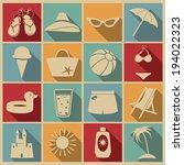beach icons. vector set  eps 8. | Shutterstock .eps vector #194022323