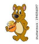 hand drawn cartoon bear with... | Shutterstock . vector #194056097