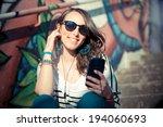 young beautiful brunette woman...   Shutterstock . vector #194060693