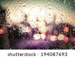 Raindrops On Glass. Outside Th...