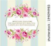 border of flowers in vintage... | Shutterstock .eps vector #194094983