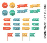 new labels set. flat design... | Shutterstock .eps vector #194113583