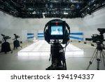 television studio with jib... | Shutterstock . vector #194194337