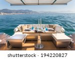 Lunch On Motor Yacht  Table...