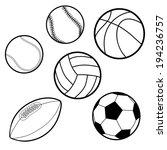 ports balls  baseball ... | Shutterstock .eps vector #194236757
