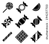 simple black and white vector... | Shutterstock .eps vector #194257703