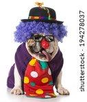 english bulldog wearing clown... | Shutterstock . vector #194278037