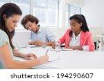 attractive business people... | Shutterstock . vector #194290607