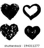heart silhouette   raster... | Shutterstock . vector #194311277
