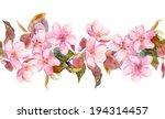 apple or cherry pink flowers.... | Shutterstock . vector #194314457