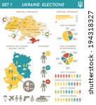 vector election infographics in ... | Shutterstock .eps vector #194318327