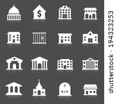 government building icons set... | Shutterstock .eps vector #194323253