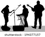 pianist and guitarist of rock... | Shutterstock .eps vector #194377157