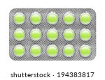 Pills In Blister  Isolated On...