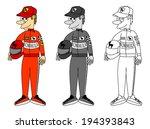 set of sportsman   formula one. ... | Shutterstock .eps vector #194393843