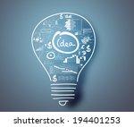 conceptual image of light bulb... | Shutterstock . vector #194401253