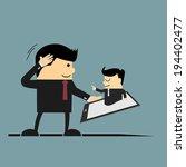 junior businessman takes order... | Shutterstock .eps vector #194402477
