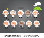 scientist cartoon  animations | Shutterstock .eps vector #194408897