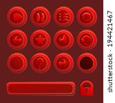 mobile red vector elements for...