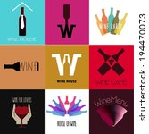 wine flat icons. vintage...   Shutterstock .eps vector #194470073