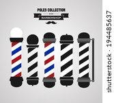 Barber Shop Vintage Pole Icons...