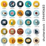 web  communication  education... | Shutterstock .eps vector #194490683