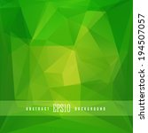 green triangle colorful... | Shutterstock .eps vector #194507057