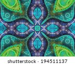 Water Themed Fractal Mandala ...