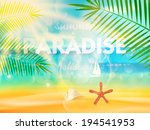beautiful seaside view poster.... | Shutterstock .eps vector #194541953