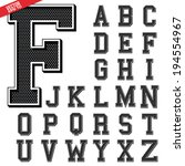 alphabet font college design in vector format