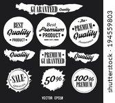 set of premium quality badges... | Shutterstock .eps vector #194559803