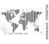 world map in the bar code... | Shutterstock .eps vector #194560763