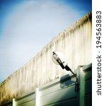 street wall lamp at cement...   Shutterstock . vector #194563883