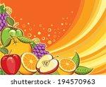 fruits background.raster | Shutterstock . vector #194570963