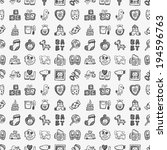 seamless doodle baby pattern | Shutterstock .eps vector #194596763