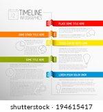 vector infographic timeline... | Shutterstock .eps vector #194615417